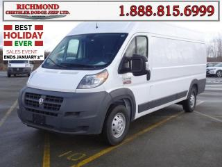 New 2018 RAM 3500 ProMaster High Roof Extended 159 in. WB for sale in Richmond, BC