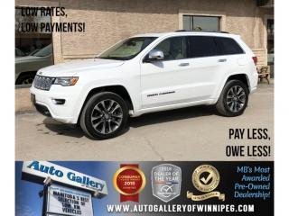 Used 2018 Jeep Grand Cherokee Overland *AWD/Htd Lthr/Navi/Bluetooth/V6 for sale in Winnipeg, MB