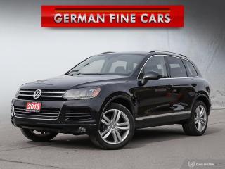 Used 2013 Volkswagen Touareg TDI HIGHLINE 3.0L DIESEL for sale in Bolton, ON