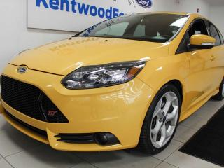 Used 2014 Ford Focus ST, power heated seats, sunroof, push start/stop, manual transmission, NAV for sale in Edmonton, AB