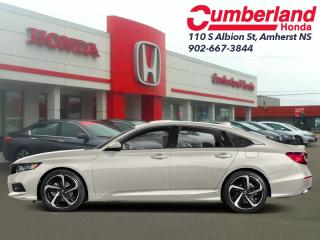 New 2019 Honda Accord Sedan Sport  - Sunroof -  Heated Seats for sale in Amherst, NS