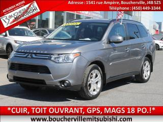 Used 2014 Mitsubishi Outlander Gt 4x4, Cuir for sale in Boucherville, QC