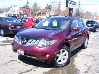 Used 2009 Nissan Murano ONE OWNER,AWD,SUNROOF,A/C,CERTIFIED,NO ACCIDENT, for sale in Kitchener, ON