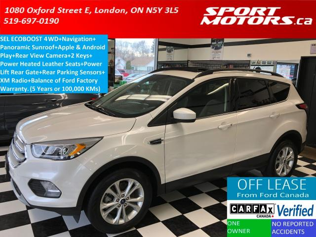 2018 Ford Escape SEL 4WD+Apple Play+Pano Roof+Heated Leather+GPS