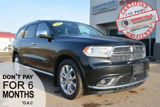 Used 2016 Dodge Durango CITADEL- ONLY 73,000 KMS, LEATHER, NAVIGATION, SUNROOF for sale in Bonnyville, AB