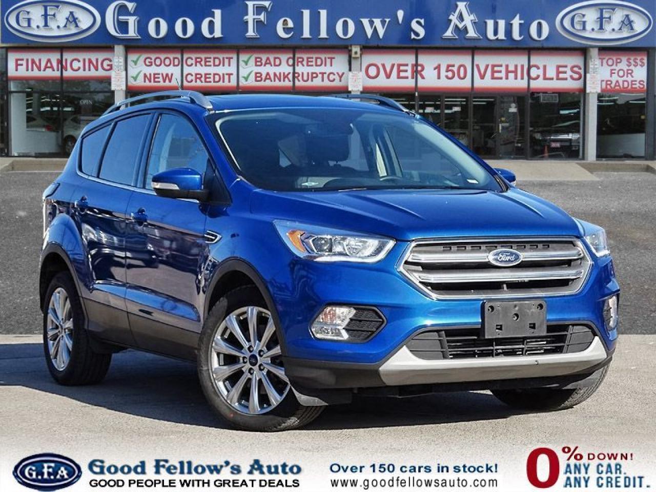 2017 Ford Escape TITANIUM, LEATHER SEATS, NAVIGATION, PANROOF, 4WD