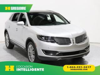 Used 2018 Lincoln MKX RESERVE AWD for sale in St-Léonard, QC