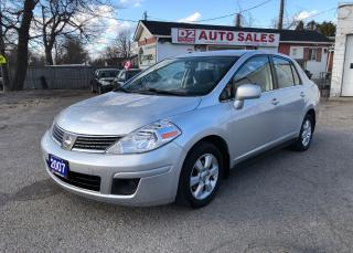 Used 2007 Nissan Versa Certified/Automatic/Gas Saver/Clean Carproof for sale in Scarborough, ON