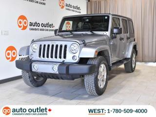 Used 2017 Jeep Wrangler Unlimited Unlimited Sahara, 4x4, Heated leather seats, Navigation system, Alpine Stereo system for sale in Edmonton, AB