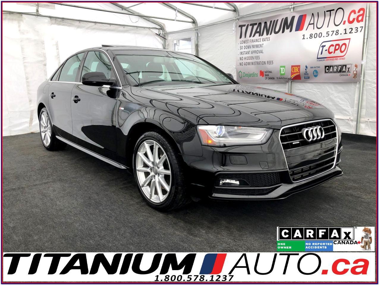 2015 Audi A4 S Line-Progressiv+-Quattro-Camera-GPS-Sunroof-HID-