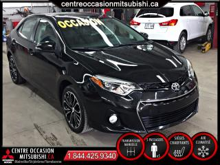 Used 2014 Toyota Corolla S , MANUELLE for sale in Terrebonne, QC