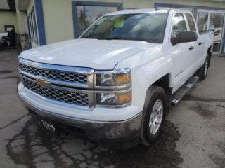 Used 2014 Chevrolet Silverado 1500 WORK READY LT MODEL 6 PASSENGER 4.3L - V6.. 4X4.. QUAD-CAB.. SHORTY.. CD/AUX/USB INPUT.. BLUETOOTH SYSTEM.. TOW SUPPORT.. for sale in Bradford, ON