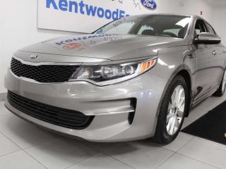 Used 2018 Kia Optima LX FWD with heated power seats, push start, back up cam. the optimal vehicle at an optimal price for sale in Edmonton, AB
