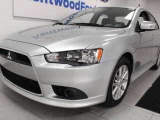 Used 2015 Mitsubishi Lancer Lancer FWD with heated seats and bullet silver for sale in Edmonton, AB