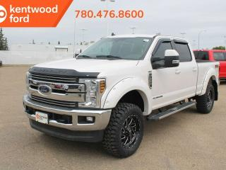Used 2019 Ford F-350 Super Duty SRW Lariat ultimate pkg 618A, 4X4 Crew Cab 6.7L Power Stroke V8, NAV, twin panel moonroof, heated/cooled power leather seats, trailer brake controller and tow pkg for sale in Edmonton, AB