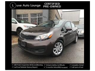 Used 2015 Kia Rio LX+ LOW KM! AUTO, A/C, HEATED SEATS! for sale in Orleans, ON