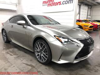 Used 2015 Lexus RC 350 F Sport AWD BLIS Nav Low kms for sale in St. George Brant, ON