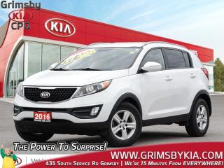 Used 2016 Kia Sportage LX| Heat Seat| Bluetooth| Keyless Ent for sale in Grimsby, ON