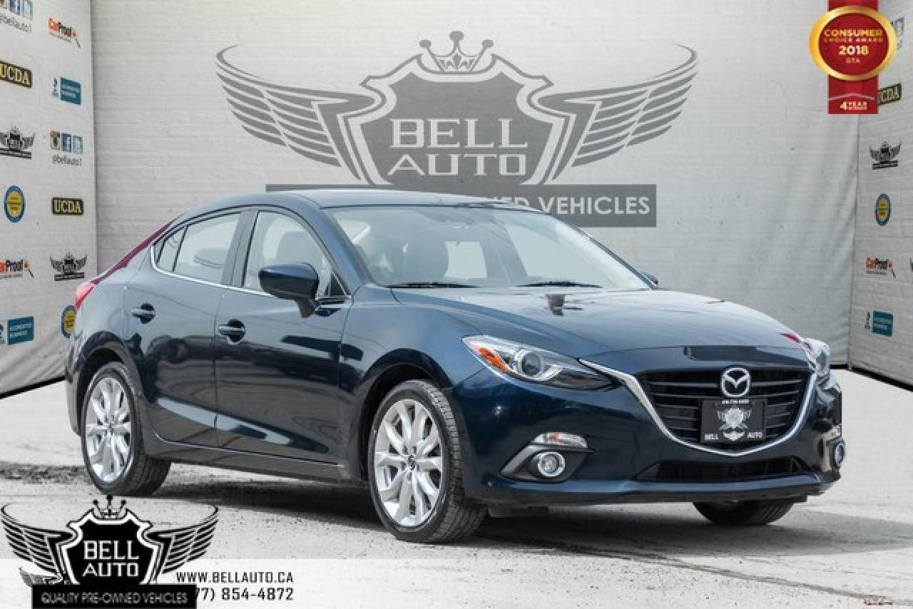 2016 Mazda MAZDA3 GT, HEADS UP DISPLAY, NAVI, BACK-UP CAM, LEATHER, SUNROOF
