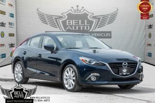 Used 2016 Mazda MAZDA3 GT, HEADS UP DISPLAY, NAVI, BACK-UP CAM, LEATHER, SUNROOF for sale in Toronto, ON