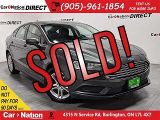 Used 2018 Ford Fusion SE| BACK UP CAMERA| PUSH START| for sale in Burlington, ON