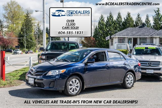 2012 Toyota Corolla Sedan, Automatic, Bluetooth, 27 Service Records!