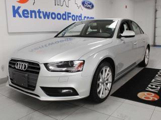 Used 2014 Audi A4 Progressiv AWD quattro with heated power leather seats, push start/stop for sale in Edmonton, AB