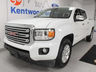 Used 2017 GMC Canyon SLE 4x4 sporting the crystal white for sale in Edmonton, AB