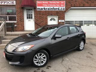 Used 2013 Mazda MAZDA3 GS-SKY Automatic Sunroof Heated Cloth Bluetooth for sale in Bowmanville, ON