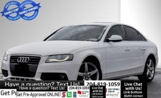 Used 2012 Audi A4 2.0T Premium *BY APPT ONLY* PLEASE CALL** SUNROOF for sale in Winnipeg, MB