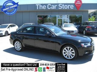 Used 2014 Audi A4 2.0 Komfort SUNROOF Htd Leather BLUETOOTH for sale in Winnipeg, MB