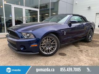 Used 2011 Ford Mustang SHELBY GT 500 CONVERTIBLE EXTREMELY LOW MILEAGE for sale in Edmonton, AB
