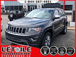 Used 2016 Jeep Grand Cherokee 4x4 Limited DEMARREUR A DISTANCE, SIEGES for sale in Jonquière, QC