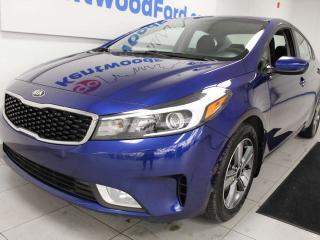 Used 2018 Kia Forte S FWD with back up cam and blazing blue for sale in Edmonton, AB