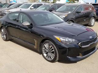 New 2019 Kia Stinger 2.0L GT-LINE; AWD, 255 HP, LEATHER, HEATED SEATS/WHEEL, SMART KEY, ANDROID AUTO/APPLE CARPLAY, for sale in Edmonton, AB