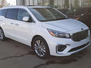 New 2019 Kia Sedona SXL+; FULLY LOADED, 7 PASS, NAV, SAMRT CRUISE, LEATHER, DUEL SUNROOF, VENTILATED SEATS, BACKUP CAMERA/SENSORS, POWER TAILGATE/SLIDING DOORS, SMART KEY, HEATED SEATS/WHEEL, BLUETOOTH, ANDROID AUTO/APPLE CAR PLAY, A/C for sale in Edmonton, AB