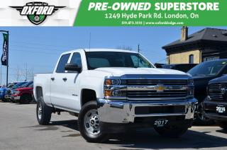 Used 2017 Chevrolet Silverado 2500 HD WT - Bed Liner, UConnect/ Bluetooth, Backup Camera for sale in London, ON