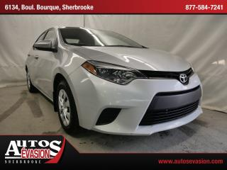 Used 2015 Toyota Corolla Ce + A/c + Bluetooth for sale in Sherbrooke, QC
