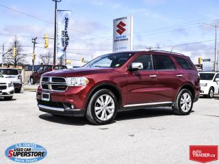Used 2013 Dodge Durango Crew Plus AWD ~7 Passenger ~Nav ~DVD ~Leather for sale in Barrie, ON