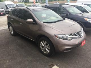 Used 2013 Nissan Murano SUN ROOF,LOADED .WE FINANCE EVERY ONE, REGARDLESS for sale in Brampton, ON