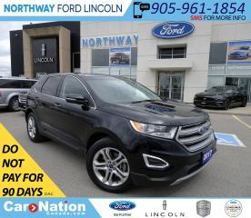 Used 2017 Ford Edge Titanium | AWD | PWR HTD LEATHER | PWR LIFT-GATE | for sale in Brantford, ON