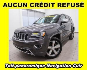 Used 2014 Jeep Grand Cherokee OVERLAND 4X4 ECO DIESEL NAV CUIR *TOIT PANO* for sale in Mirabel, QC
