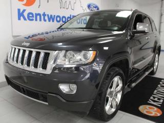 Used 2013 Jeep Grand Cherokee Overland 4x4 with NAV, sunroof, heated/cooled power leather seats, heated rear seats, selec-terrain for sale in Edmonton, AB