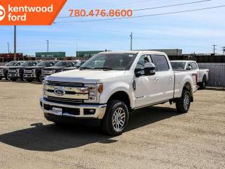 New 2019 Ford F-350 Super Duty SRW Lariat ultimate pkg 618A, 4X4 Crew Cab 6.7L Power Stroke V8, NAV, twin panel moonroof, heated/cooled power leather seats, power running boards, trailer brake controller and tow pkg for sale in Edmonton, AB