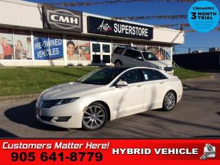 Used 2016 Lincoln MKZ Hybrid FWD  HYBRID TECH ADAP-CC LD NAV ROOF LEATH for sale in St. Catharines, ON