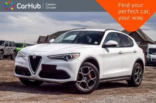 Used 2018 Alfa Romeo Stelvio Sport|AWD|1854 KM|Navi|Blind Spot|Backup Cam|Bluetooth|R-Start|Leather|19