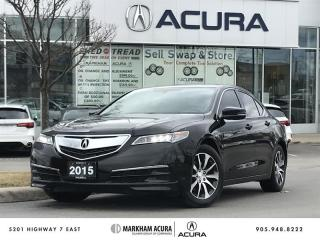 Used 2015 Acura TLX 2.4L P-AWS Low km, Bluetooth, Heated Seats for sale in Markham, ON