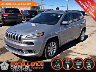 Used 2017 Jeep Cherokee OVERLAND *CUIR/TOIT/NAV/CAMERA* for sale in Vaudreuil-Dorion, QC