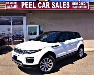 Used 2016 Land Rover Range Rover Evoque SE|LEATHERSEAT|ALLOYS|PANOROOF|REARVIEW for sale in Mississauga, ON