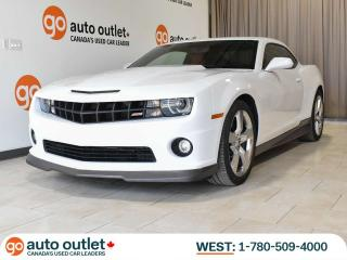 Used 2012 Chevrolet Camaro 2SS 6.2L V8! Auto, Leather Heated Seats, Sunroof, Heads-up display for sale in Edmonton, AB